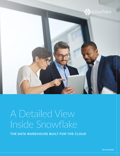 A Detailed View Inside Snowflake Image