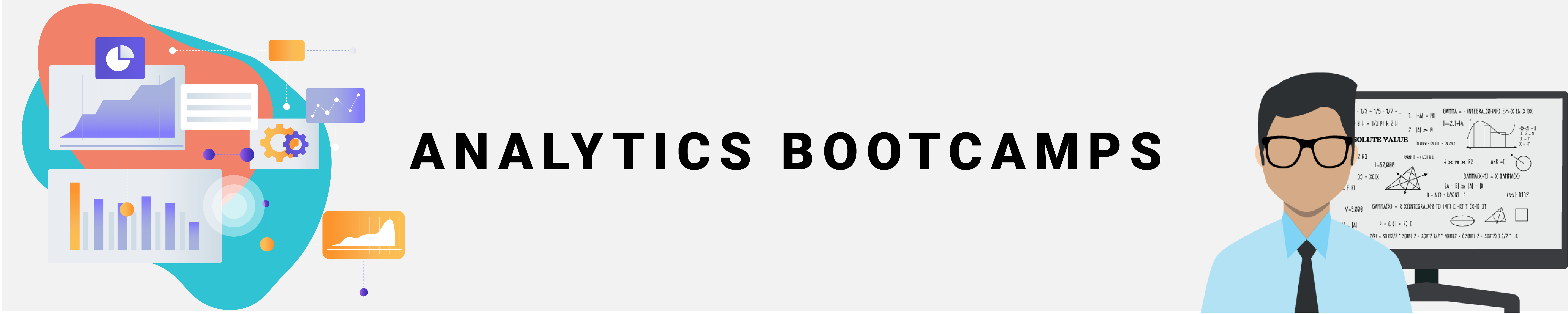 """Banner reading """"Analytics Bootcamps"""""""